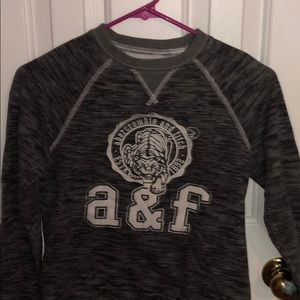 Abercrombie kids grey pullover shirt